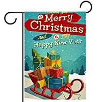 ガーデンフラッグ両面印刷防水クリスマスギフト 庭、庭の屋外装飾用