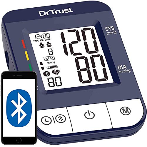 Dr Trust (USA) Digital Blood Pressure Monitor Apparatus and Testing Machine with USB Port Icheck Bluetooth Connect Most Accurate...