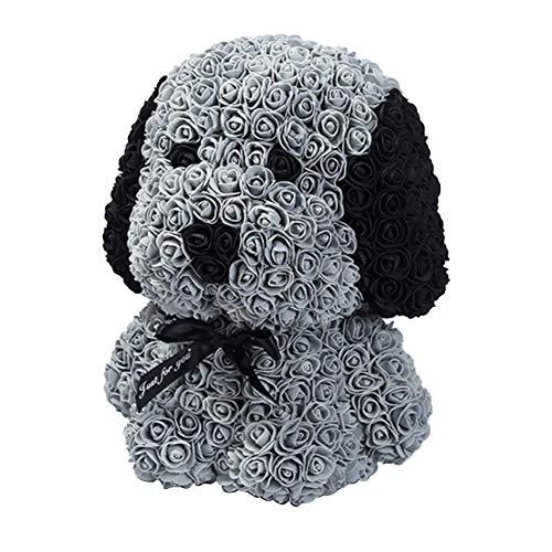 Eruditter Rosenhund Künstlicher Rosafarbener Hund PE Rose Hund Aufwändig, Blütenblätter Verblassen Nie, Jubiläum, Geburtstag, Hochzeit, Valentinstag Calm