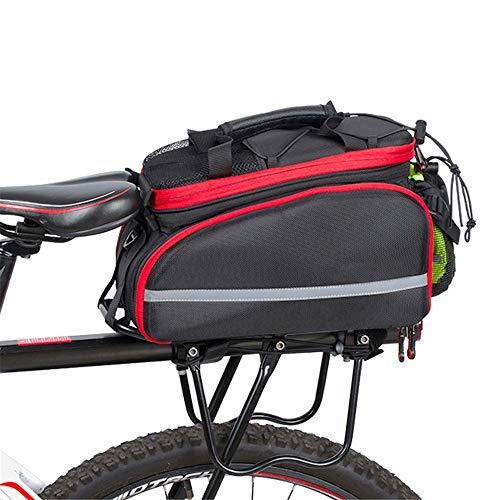 YGWE Bolsa portabicicletas Trasera 2-en-1 de Gran Capacidad Montar Bicicleta Bolsa, multifunción...
