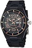 Technomarine Men's Cruise Stainless Steel Quartz Watch with Silicone Strap, Black, 29 (Model: TM-115147)