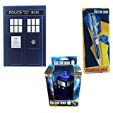 Doctor Who Tardis Themed Stationary Set With Notebook, Pen And Stress Toy