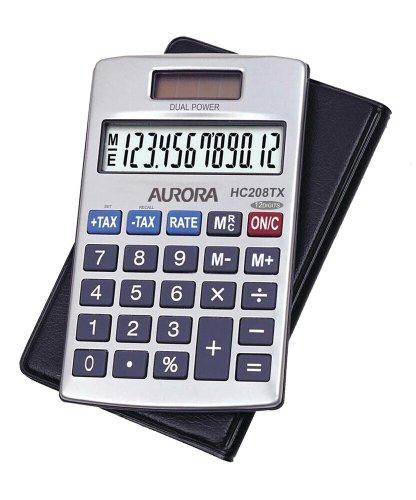 Aurora HC208TX Taschenrechner Executive-Modell mit Hülle