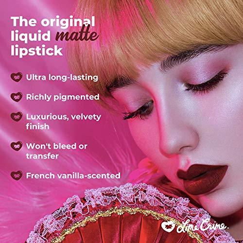 Lime Crime Velvetines Liquid Matte Lipstick, Scandal - French Vanilla Scent -Long-Lasting Velvety Matte Lipstick - Won't Bleed or Transfer - Vegan