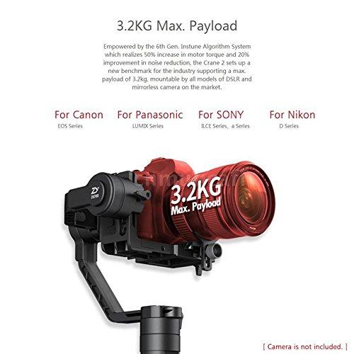 Zhiyun grúa 2 3 ejes Handheld Gimbal Estabilizador con tiempo real ...