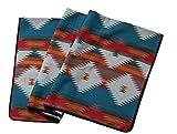 Ruth&Boaz Outdoor Wool Blend Blanket Ethnic Inka Pattern(M) (Orange, X-Large)