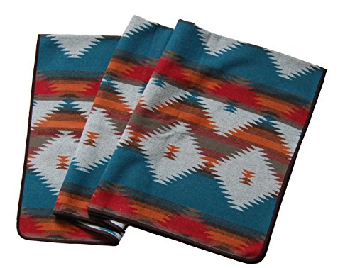 Ruth&Boaz Outdoor Wool Blend Blanket Ethnic Inka Pattern(M) (Orange, Normal)
