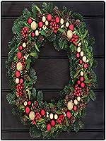 カーペット 新生活 肌にやさしい フローリングマット 120*160 ランドリー、キッチン、バスルームのモミのクリスマスリースのためのクリスマスベビールームラグ 秋冬 抗菌防臭 台所