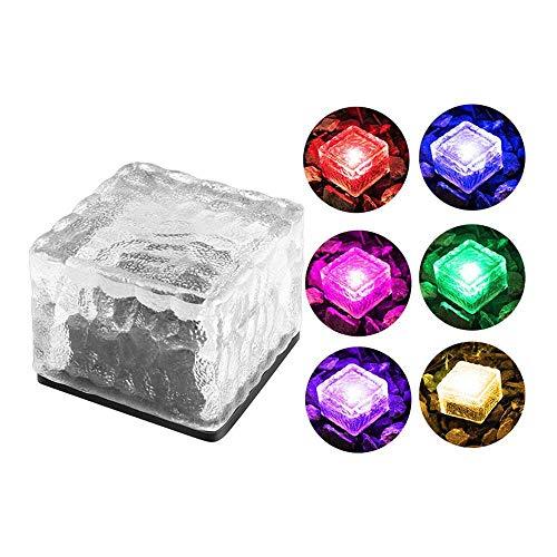 VVU Lámpara del ladrillo del Cubo de Hielo, lámpara del ladrillo del Cubo de Hielo del jardín de la Yarda de la Pista de la Prenda Impermeable de la luz de la Roca del LED con energía Solar