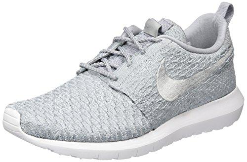 Nike Flyknit Rosherun Mens Running Trainers 677243 Sneakers Shoes (US 8.5, Black White Total Orange Volt 018)