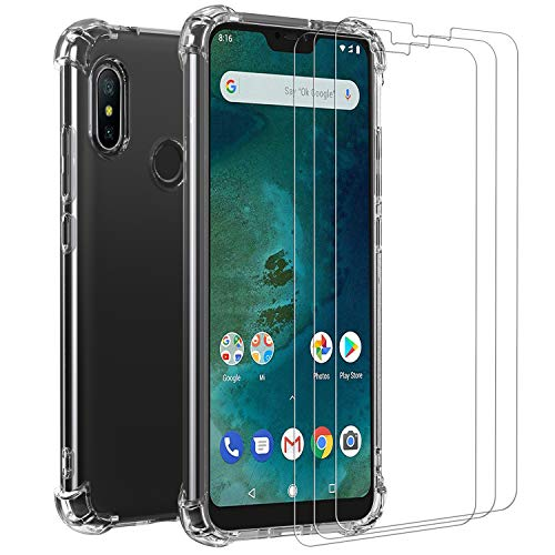 Ivoler Funda Xiaomi Mi A2 Lite + [3 Unidades] Cristal