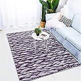 Alfombra suave para sala de estar, dormitorio, sala de niños, alfombra para el hogar, alfombra para el piso, alfombra para la puerta, moda exquisita alfombra de gran área-160X230cm-El 160X230cm