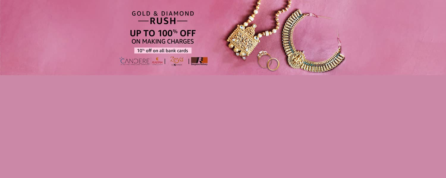 Amazon Offers Today-Coupons-Promo Codes - Get Flat 10% off on Precious Jewellery