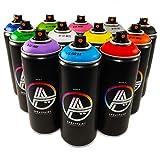 Double A Spraypaint Set of 12 Main Colors 400ml Graffiti Street Art Mural Spray Paint