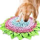 Nabance Tapis de Chien Snuffle Mat Multicolore Tapis de Fouille Jouet Chien Dog Puzzle Toys Tapis éducateurs pour Chien Animaux Domestique Entraîner Le Sens de l'odeur Lent Alimentation 54 CM (Vert)