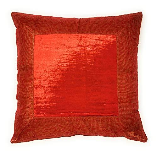 Aga\'s Own Indische Kissen 40x40 cm Kissenhülle Kissenbezug Orientalischer Bezug Indien (Rot)