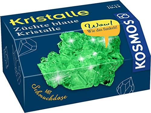 KOSMOS 657956 gröna kristaller själv odlar experimenteringsset för barn, vit