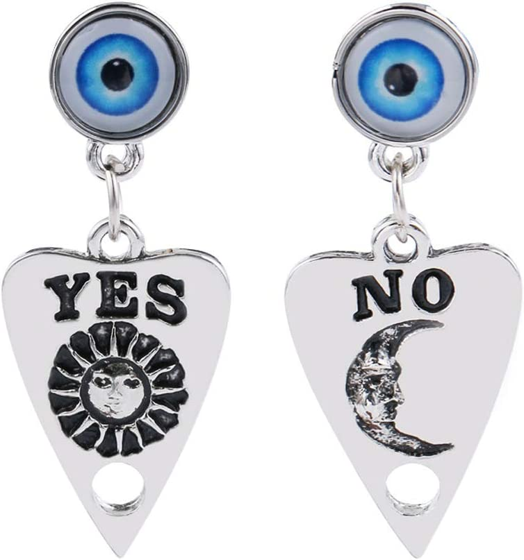 Popular Jpwpowe Gothic God of Eyes Witch Planchette Drop Earrings Gifts Ouijas