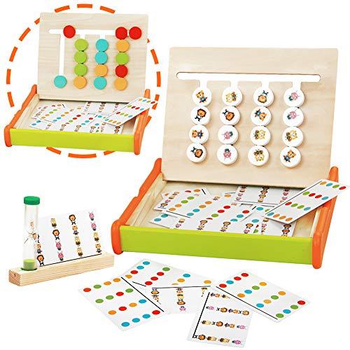jerryvon Giochi Montessori in Legno Puzzle Bambini Logica Gioco Colore Animale Classificazione Blocchi Educativi Giochi Giocattoli Pila Giocattolo Rompicapo Ordinamento per Ragazzi Ragazze 3 4 5 Anni