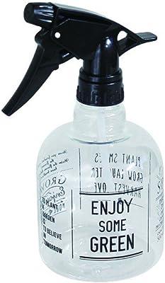 Time Concept 500ml Garden Spray Bottle - Enjoy Black - Plant Watering Tool, Multipurpose Plastic Sprayer