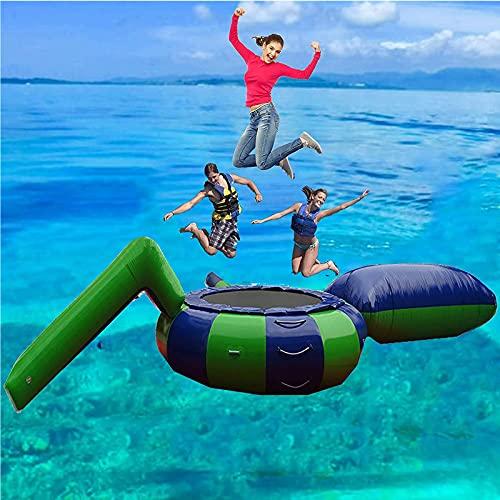 Gorila Inflable Muelle Flotante Isla Flotante Trampolín De Agua Inflable para Lago Parque Acuático Inflable Islas Flotantes para Lago,3M/9.8FT
