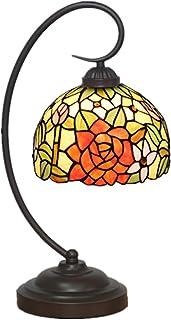 KCoob Klassische Tischlampe mit Rosan auf lackiertem lackiertem lackiertem Glas Lampenabdeckung B07HLK3YSH  Rechtzeitige Aktualisierung e6815a