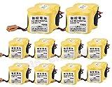 10 piezas BR-2/3AGCT4A 6V PLC batería de repuesto para FANUC Controls A98L-0031-0025 CNC Mahine