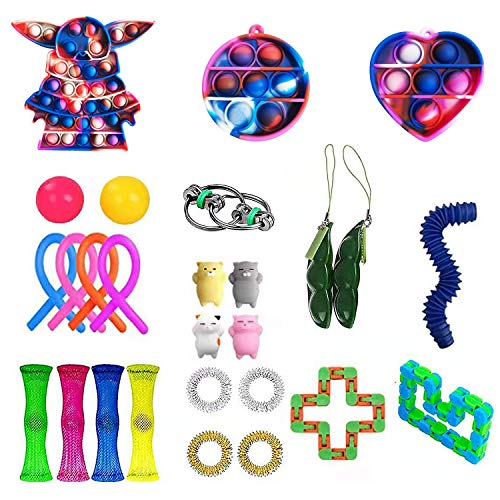 27 Pack Sensory Fidget Toys Set, Relieves Stress and Anxiety Fidget Toy for Children Adults,...