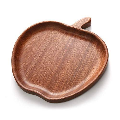 Piatto da portata a forma di mela fatto a mano ecologico di legno. Realizzato in legno di sandalo naturale che è sicuro e sano, lucidare con cura ogni dettaglio. Facile da pulire, basta pulirlo con un panno umido. Ottimo per vassoi di feste natalizie...