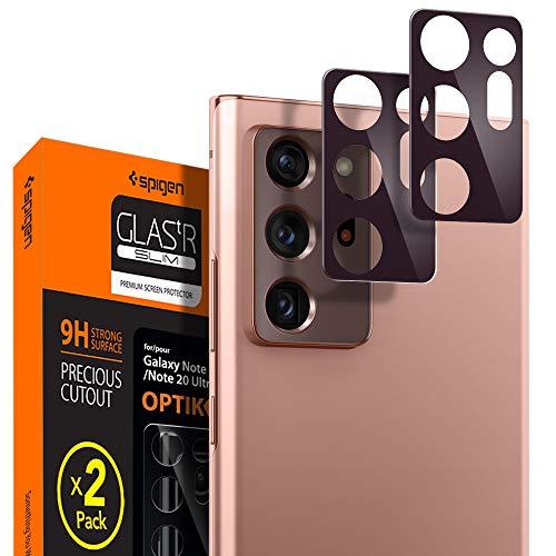 Spigen Glas tR Optik Galaxy Note 20 Ultra 用 カメラフィルム 保護 ギャラクシー Note20 Ultra 用 カメラ レンズ ブロンズ 2枚入