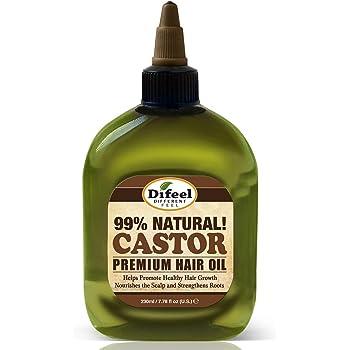Difeel Premium 99% Natural Castor Hair Oil 8 ounce