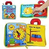 Richgv Libro Blando para Bebés Libro Tela Soft bebés Libros Actividades 3D para Infantes Juguetes sensoriales interactivos para niños para Aprender Habilidad para la Vida y Identificar juguete 0 meses
