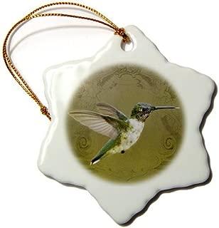 Christmas Ornament Angel Wings Hummingbird in Flight Art Image-Nature and Wildlife-Snowflake Ornament Porcelain