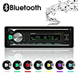 Car Stereo Bluetooth, In-Dash Single Din Car Radio/MP3 Player/USB/TF/AUX/FM/Audio Receiver +Hands Free Calling