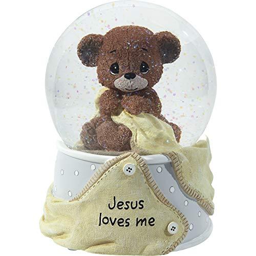 Precious Moments 203108 Jesus Loves Resin/Glass Snow Globe Musical, Multicolor