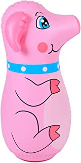 doctor dolphin Pig Inflatable Punching Bags, Blow up Tumbler for Kids, Boxing Toys for Indoor & Outdoor