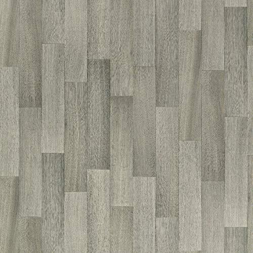 PVC Vinyl-Bodenbelag in der Optik grau anthrazit Holz Planke | PVC-Belag verfügbar in der Breite 2 m & in der Länge 5,0 m | CV-Boden wird in benötigter Größe als Meterware geliefert