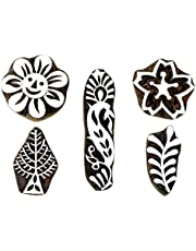 Hashcart Hand-Carved Wooden Baren | Motif Printing Block for Artistic Design On Saree Border | Painting for Christmas Décor