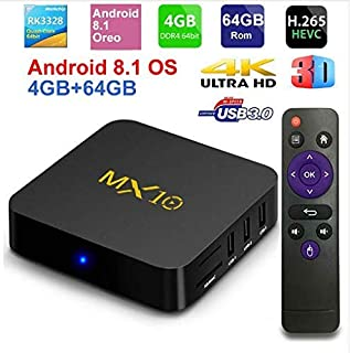 Hyperia MX10 4GB RAM 32GB ROM Android 9.0 OS TV Box USB3.0 RK3328 Quad Core 2.4Ghz WiFi LAN Smart 4K Media Player