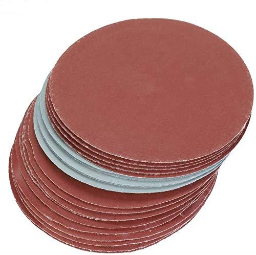Wifehelper - Discos abrasivos redondos de 5 pulgadas, 1000, 1500, 2000, 3000, grano de papel abrasivo, para lijadora orbital casual, 20 unidades