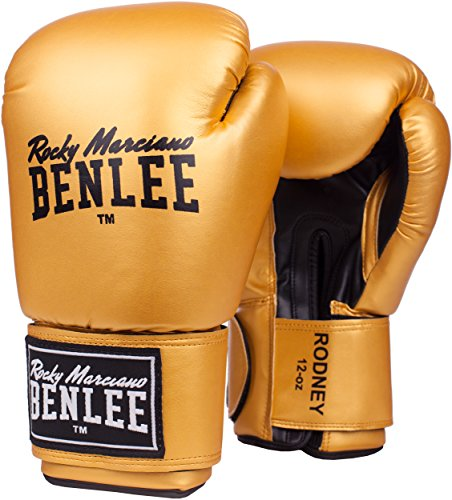 BENLEE Rocky Marciano Boxhandschuhe Training Gloves Rodney, Gold/Black, 12