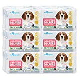 Paw Inspired 144ct Disposable Dog Diapers   Female Dog Diapers Ultra Protection  Puppy Diapers, Diapers for Dogs in Heat, or Dog Incontinence Diapers (Medium)