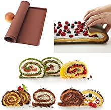 Nonstick Baking Pastry Tools Silicone Baking Rug Mat Kitchen Accessories Silicone Mold Swiss Roll Mat Cake Pad Baking Tool