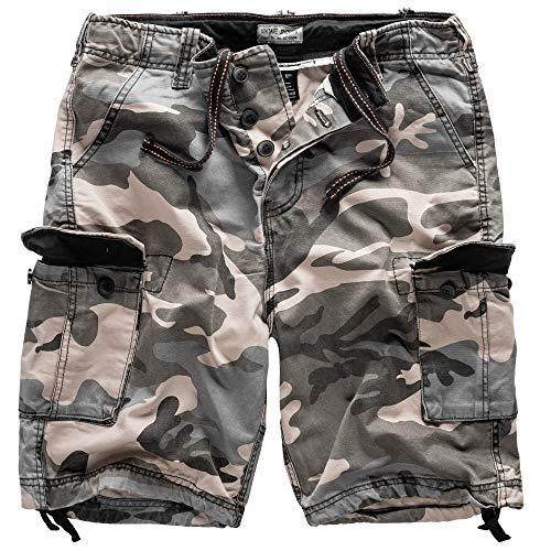 Surplus – Short Motif Camouflage, Couleur Gris, Vintage Shorts Washed, Multicolor - Negro camuflaje, XXL