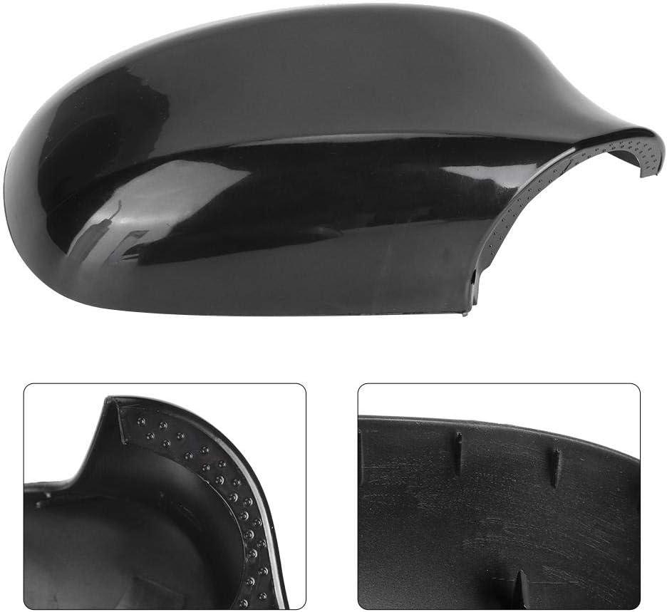 51167205291 51167205292 Left Black KIMISS Rearview Mirror Cover Cap Wing Mirror Protector Refitting Fit for E90 E91 E92 E93 LCI