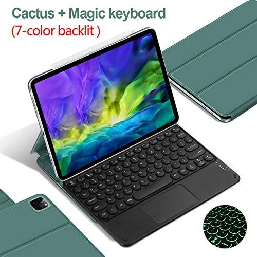 Magic Keyboard para iPad Pro 11 funda 2020 para iPad Pro 12.9 2018 2020, cubierta magnética ultraplana con Bluetooth, funda para teclado táctil, Gf Cactus Touch 7C, iPad Pro 12.9 2018