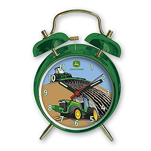 John Deere Child's Twin Bell Alarm Clock