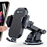 Andobil Car Phone Mount Easy Clamp, Ultimate Hands-Free Phone Holder for Car Dashboard Air Vent Windshield, Super Suction Compatible with iPhone 11/11 Pro/8 Plus/8/SE/X/XR/XS/7 Samsung S20/S10 More
