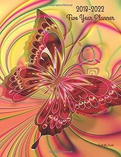 2018 - 2022 Butterfly Swirl Five Year Planner: 2018-2022 Monthly Schedule Organizer - Agenda Planner for the Next Five Years/60 months calendar - 8.5 ... (5 year Diary/5 year Calendar/Logbook)