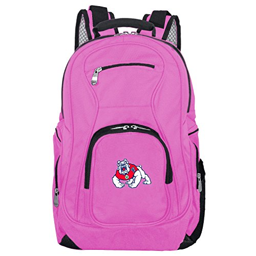Save %20 Now! NCAA Fresno State Bulldogs Voyager Laptop Backpack, 19-inches, Pink